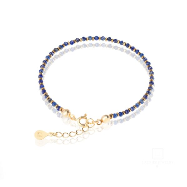 Bransoletka z kamieniem Lapis Lazuli i hematytami
