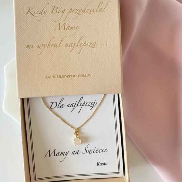 Naszyjnik z różowym kwarcem. Dla Mamy.